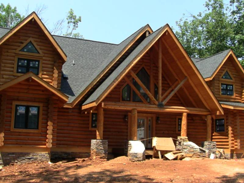 Log Home Cleaning Staining Restoring In Virginia