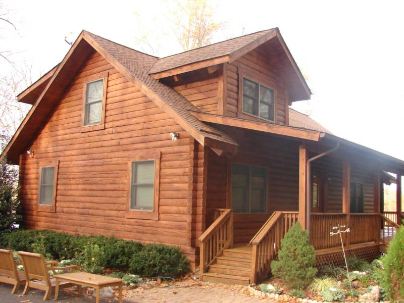 Log cabin paint schemes bing images for How to stain log cabin