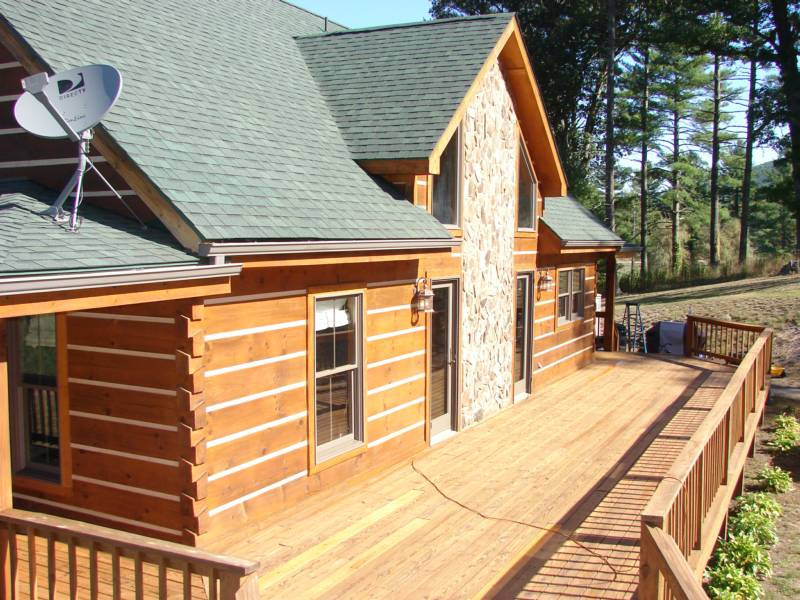 Painting log log cabin exterior colors joy studio design for Log cabin exterior stain colors